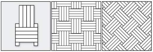 Плетенка четвертная, используется при укладке два виды древесины.