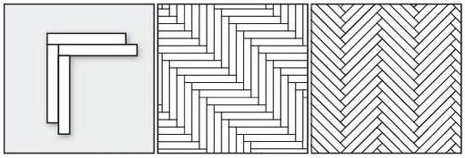 ёлочка одинарная прямая, ёлочка одинарная диагональная