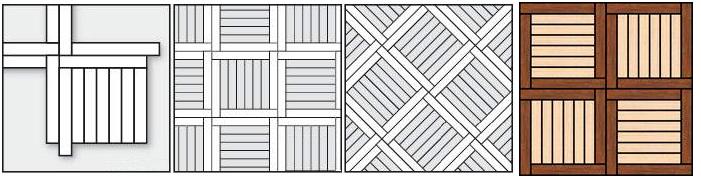 Обрамленный квадрат прямой идиагональный #1