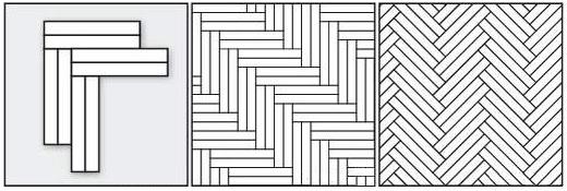 ёлочка двойная прямая, ёлочка двойная диагональная