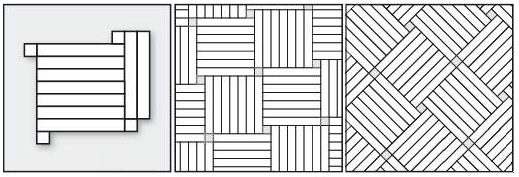 квадрат с акцентами прямой и квадрат с акцентами диагональный, семь планок #1