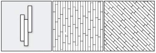 палуба хаотичная прямая, палуба хаотичная диагональная