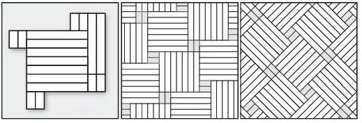квадрат с акцентами прямой и квадрат с акцентами диагональный, семь планок #2